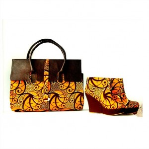 Ankle boots nad bag