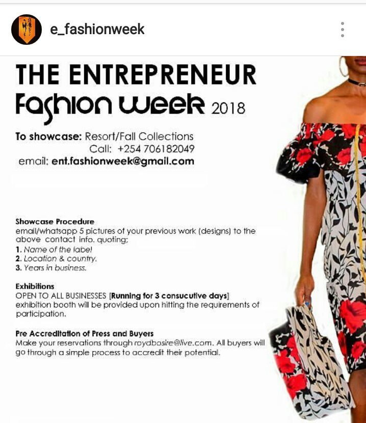 entrepreneur fashion week