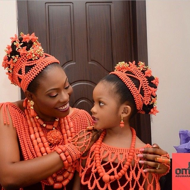 Nigeria Igbo Traditional Wedding Red Coral Beads